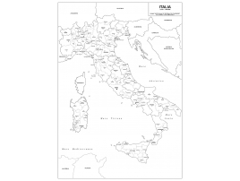 Administrative map of Italy