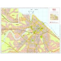 Plan of Pesaro with postal codes
