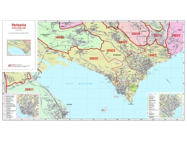 Plan of Verbania, with postal codes