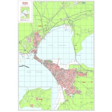 Plan of Tarentum with postal codes