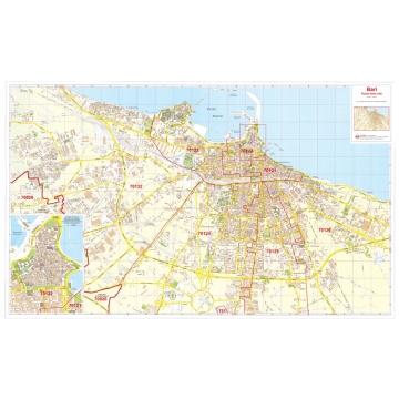 Plan of Bari with postal code