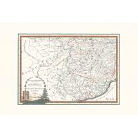 Carta antica Alta Lombardia terzo foglio 1791