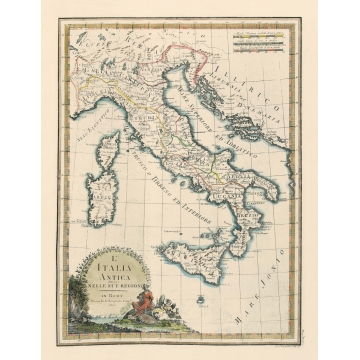 Antique map of Italy