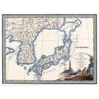 Antique map of Japan and Korea