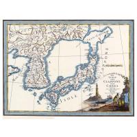 Carta antica del Giappone e della Corea 1797