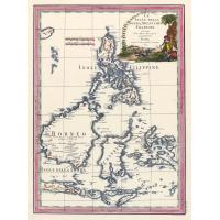 Antique map of Philippines and Borneo