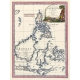 Antique map of Philippines and Borneo