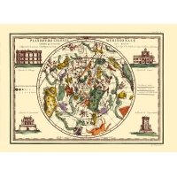 Antique map of the southern celestial planisphere