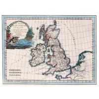 Carta antica delle Isole Britanniche 1797