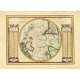 Antique map of Earth's southern hemisfere