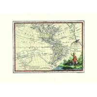 Carta antica delle Americhe 1805
