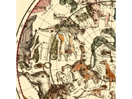 Antique map of Planisphere celeste northern