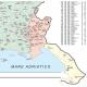 Map of Friuli Venezia Giulia with postal codes