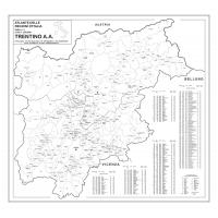 Mapo of Trentino Alto Adige with postal codes