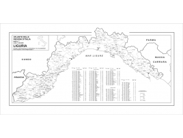 Map of Liguria with postal codes