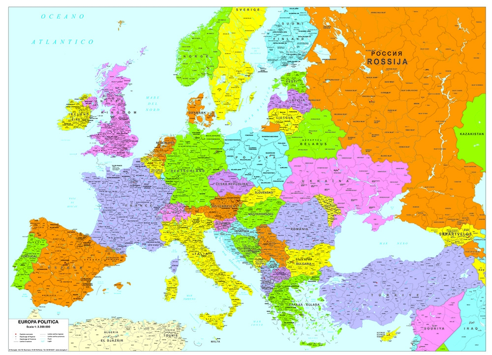 Carte geografiche Europa