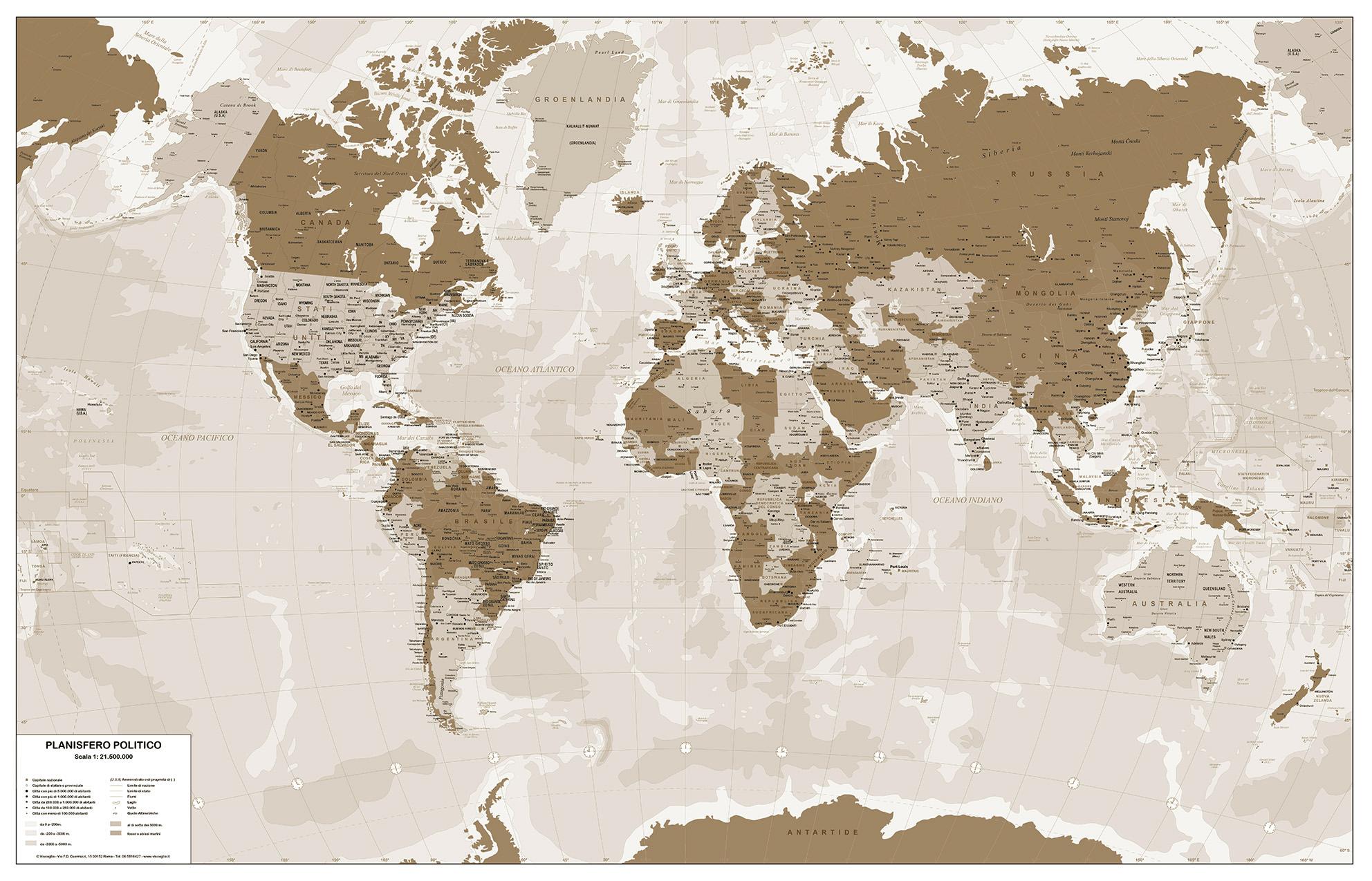 Carte geografiche mondo