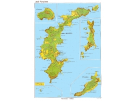 Tourist road map of the island of Ponza