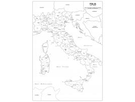Carta geografica dell'Italia amministrativa
