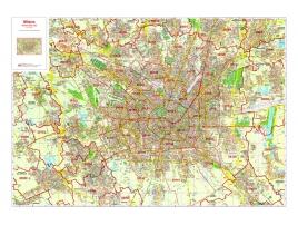 Plan of Milan with postal codes