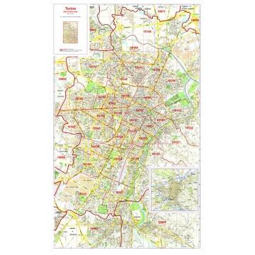 Mappa della Città di Torino con CAP