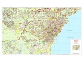 Mappa della Città di Catania con CAP