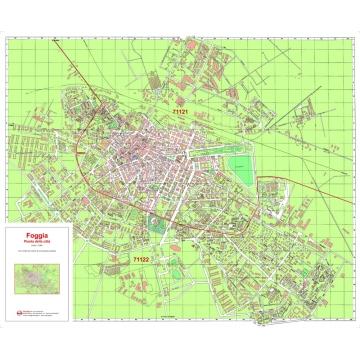 Mappa della Città di Foggia con CAP