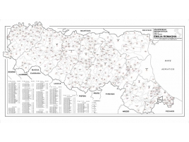 Carta geografica della Regione Emilia Romagna