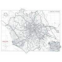 Comune di Roma stradale in bianco e nero