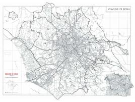 Mappa del Comune di Roma stradale