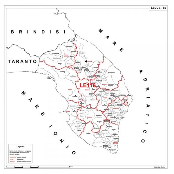 atlante delle province d italia asl sud