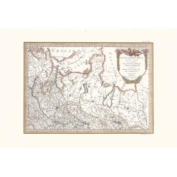 Carta geografica antica Alta Lombardia secondo foglio 1791