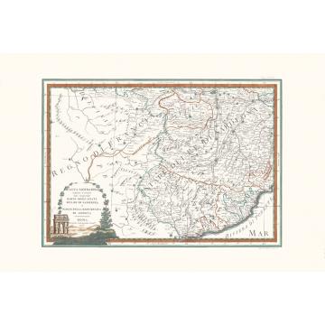 Carta geografica antica Alta Lombardia terzo foglio 1791