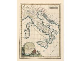 Carta antica dell'Italia 1800