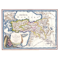 Antique map of Asian Turkey