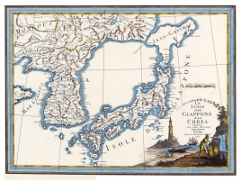Carta geografica antica del Giappone e della Corea 1797