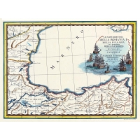 Carta antica della Romania e Bulgaria 1788