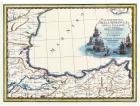 Carta geografica antica della Romania e Bulgaria 1788