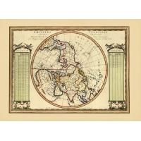 Carta antica dell'Emisfero Terrestre Settentrionale 1789