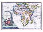Carta geografica antica dell'Africa 1788