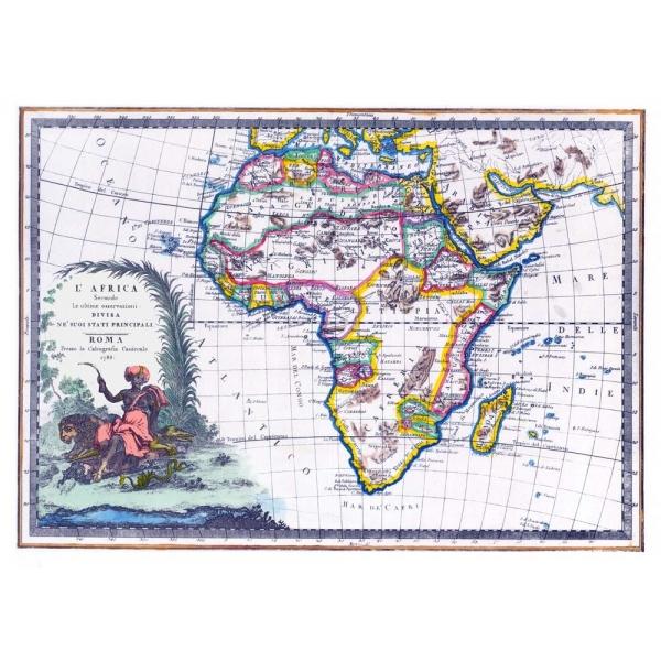 Cartina Giografica Africa.Carta Antica Dell Africa 1788
