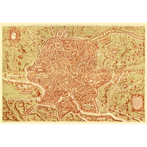 Cartina Antica Roma.Carta Antica Di Roma 1570