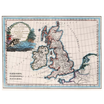 Antique map of British Isles