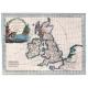 Carta geografica antica delle Isole Britanniche 1797