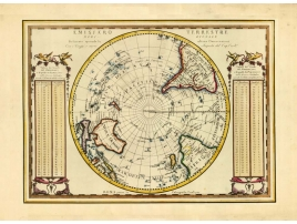 Carta geografica antica dell'Emisfero Terrestre Meridionale 1789