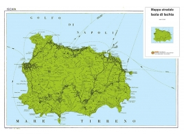 Tourist road map of the island of Ischia
