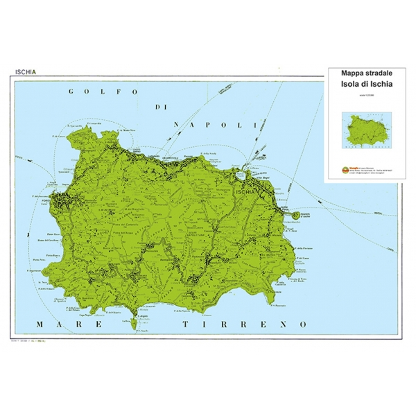 Ischia Cartina Turistica.Carta Stradale Dell Isola Di Ischia