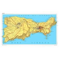 Carta stradale turistica dell'isola di Capri