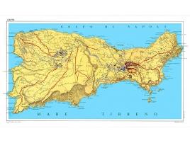 Carta stradale dell'isola di Capri