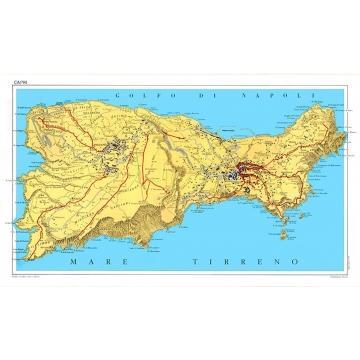Tourist road map of the island of Capri